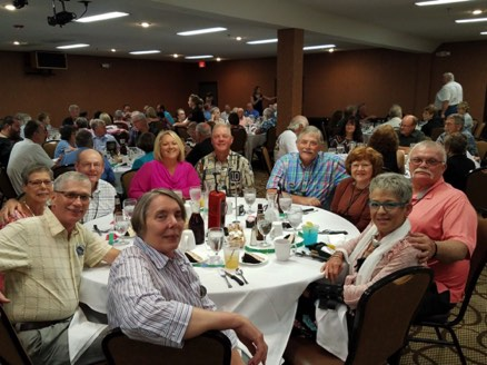 Table of DeSoto friends at the banquet