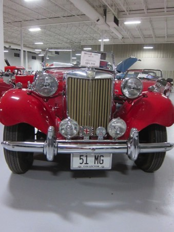 Front grill of MG