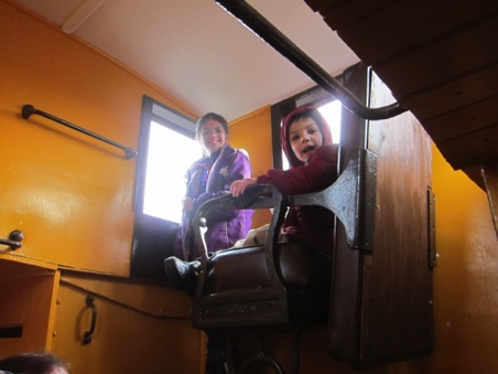 Kaylee and Alexander Oyen in the cupola