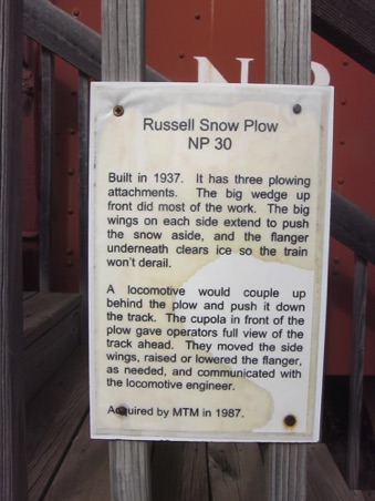 Signage for plow
