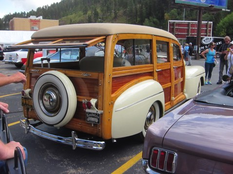 1948 Ford Woody at registration