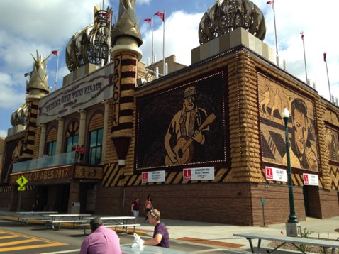 Of course we had to stop at the Corn Palace in MItchell