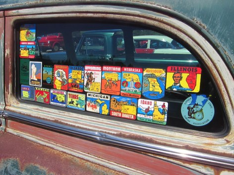 Original park stickers on the Wagon
