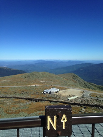 Looking North from top of Mt. Washington