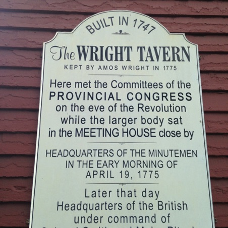 Signage for the Wright Tavern