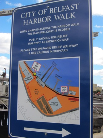 Map of the harbor walk
