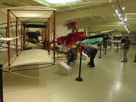 Airplanes - red one is a 1917 Fokker Tri-plane